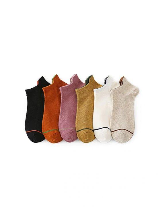 kit 6 pares de meias casuais