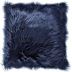 Almofada Em Veludo Mart Azul