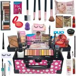 Maleta de Maquiagem Com Kit Maquiagem