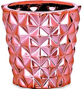 Cachepot em Cerâmica Mart Rose Gold