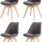 Kit 4 Cadeiras Veludo Cinza Sala Cozinha Jantar