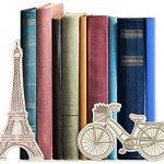 Aparador de Livros Paris, GeGuton, Bege/Estampa