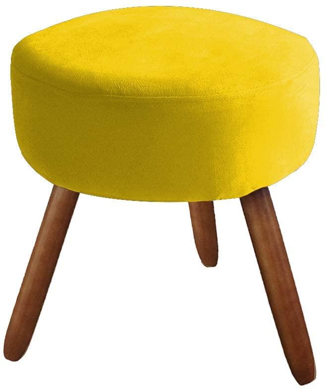 Puff Redondo – Amarelo Pé Castanho