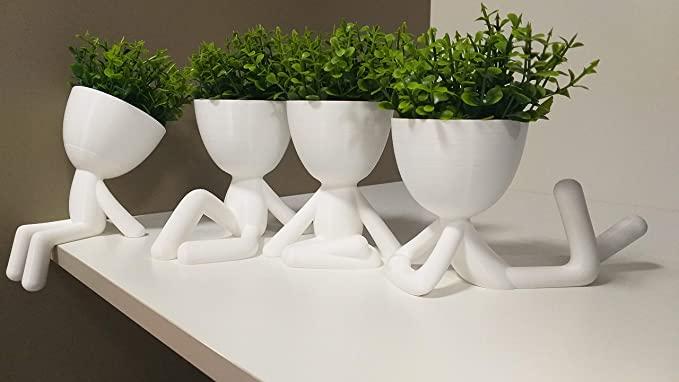 Vaso decorativo Bob Posições,Quarteto (Branca)