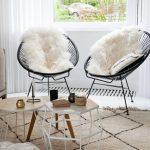 Kit 2 Cadeiras Acapulco Oval PVC Base Ferro Pintado Preta