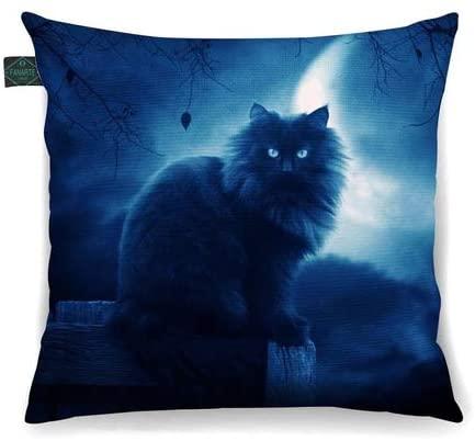Almofada Decorativa Gato Mistico Ao Luar 30x30cm