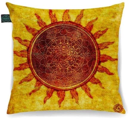 Almofada Arte Mistica Sol Negro Magia 30x30cm