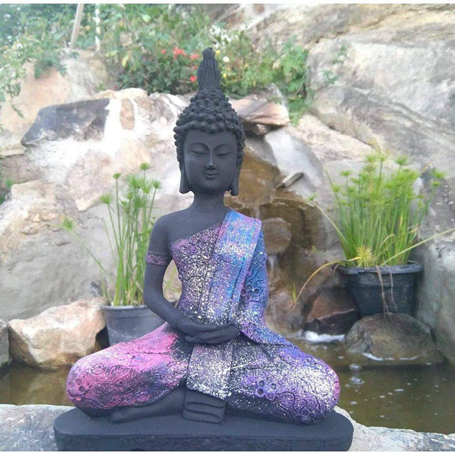 Estátua Buda Hindu Colorido + Incenso