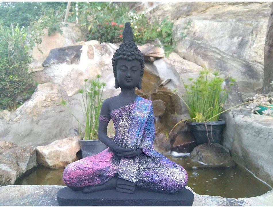 Estátua Buda Hindu Colorido