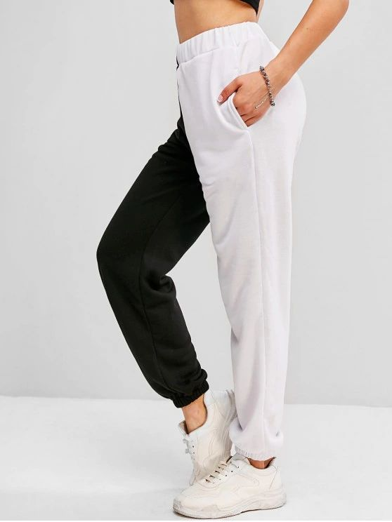 Calça jogger cintura alta
