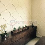 Painel 3D de Fibra de Bambu – 50x50cm