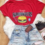 T-shirt Estampa Hamburgers