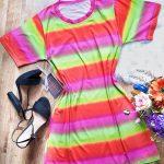 Vestido tie dye  colorido
