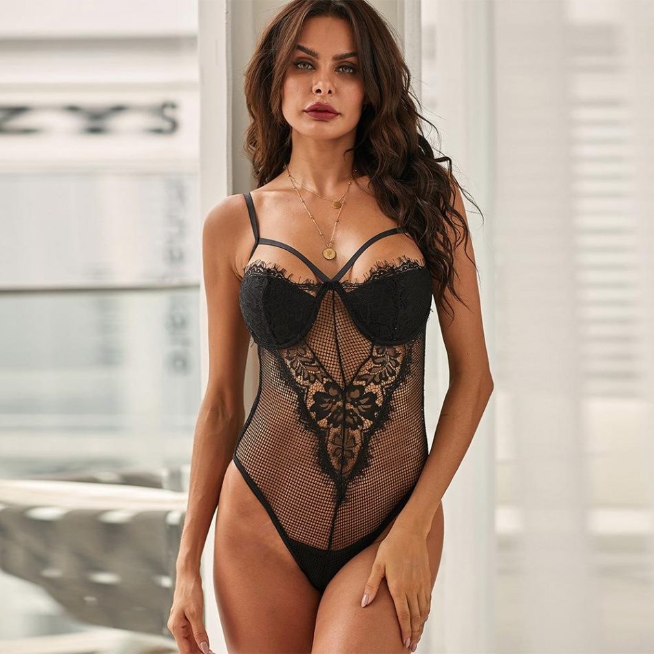 Body Lingerie De Renda Super