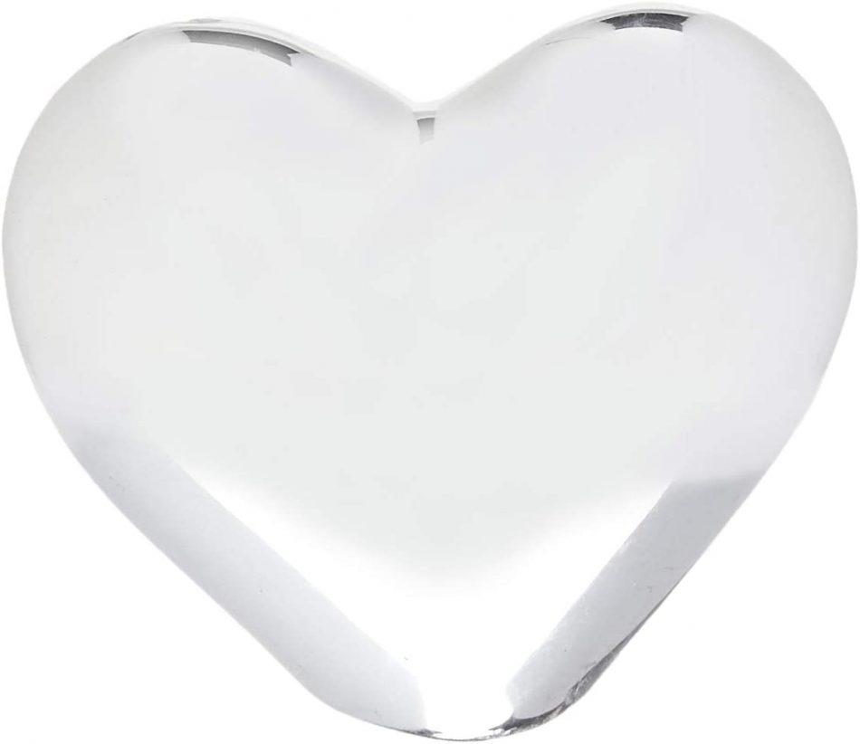 Coração Prata Em Cerâmica-