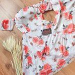 Vestido floral tule tendência