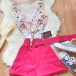 Conjunto Body Floral E Short