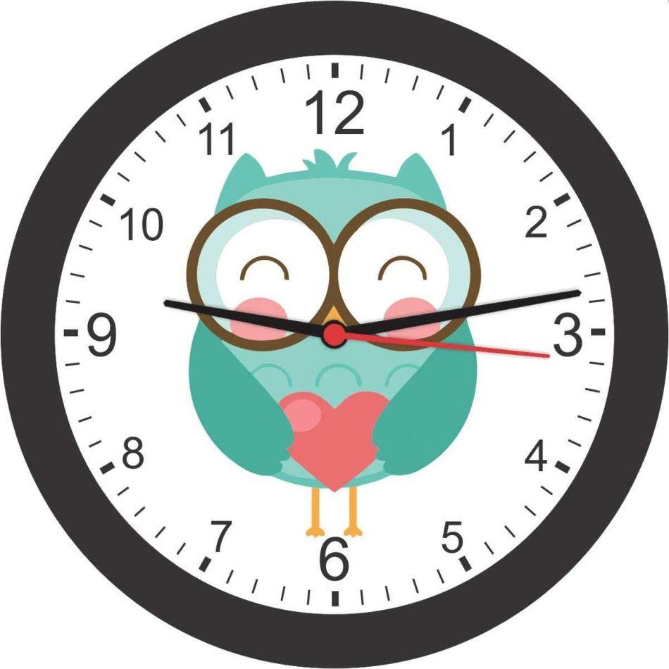 Relógio de parede corujinha