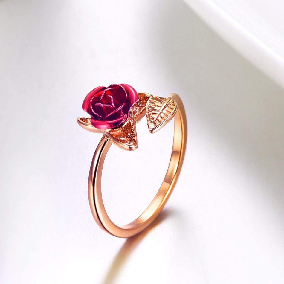 Anel de Flor Botão de Rosa