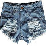 Shorts Jeans Feminino Cintura