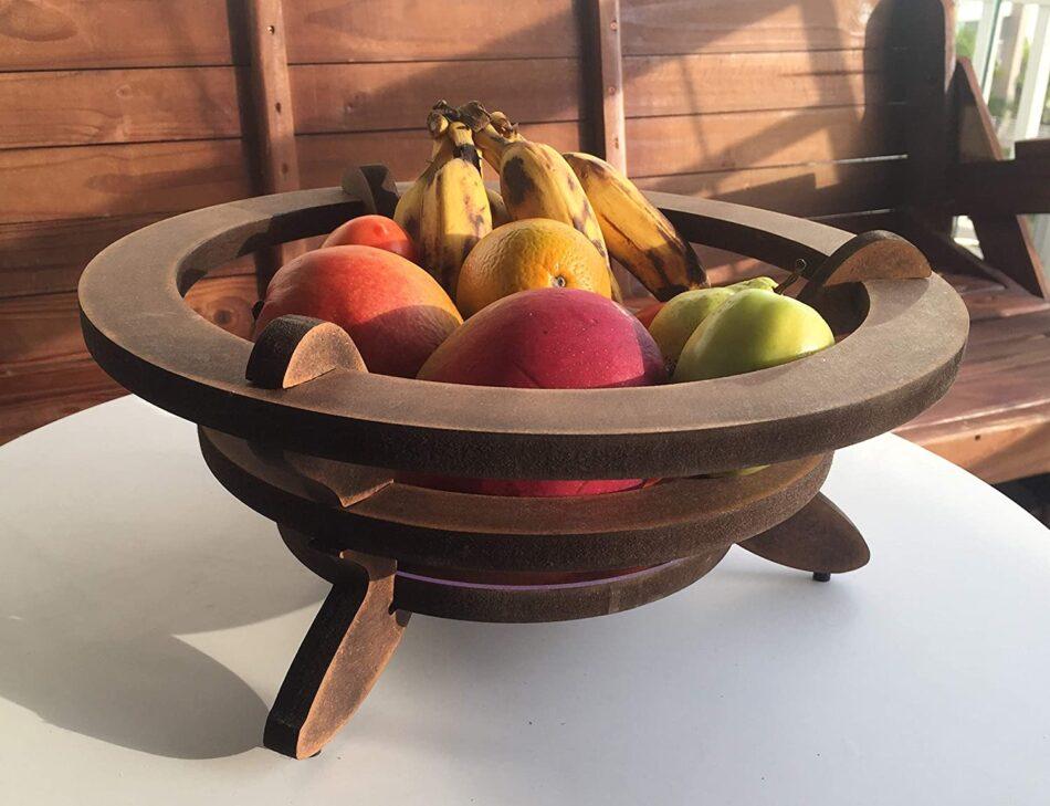 Fruteira Madeira Rústica