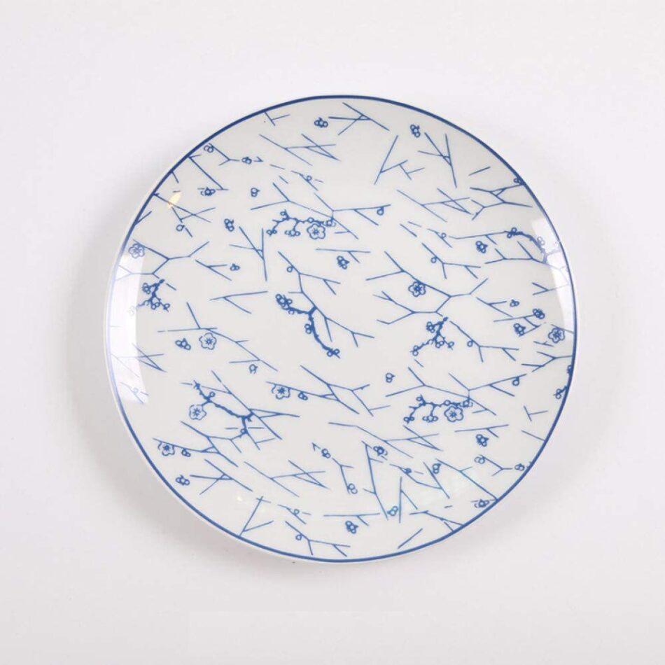 Disco de porcelana azul e