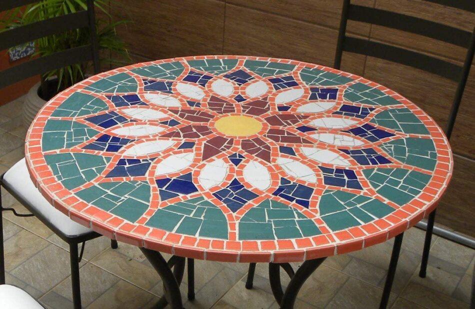 Tampo De Mesa Em Mosaico –